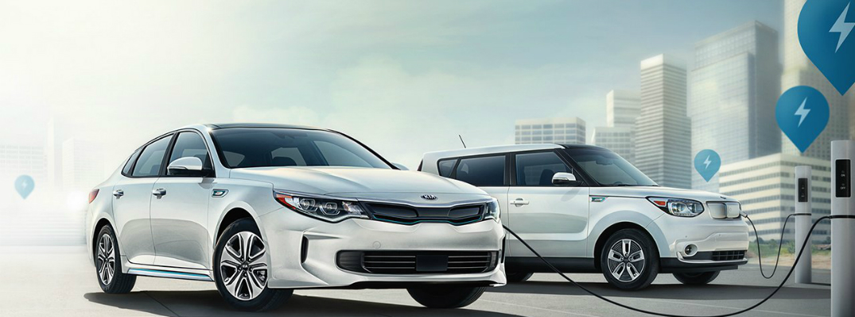2018 Kia Optima Plug-In Hybrid Charging at ta Public Station