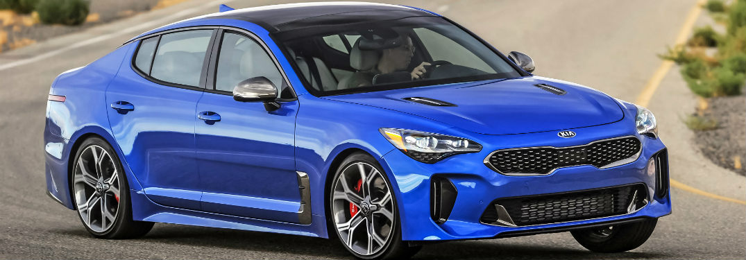 2018 Kia Stinger exterior side blue