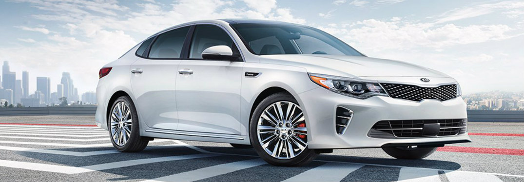 2018 Kia Optima exterior side white