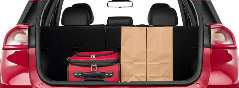 Luggage in rear area of 2018 Kia Niro