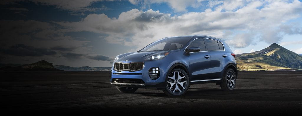 2019 Kia Sportage in Pacific Blue