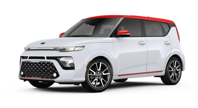 2020 Kia Soul Clear White and Inferno Red Exterior Color Option