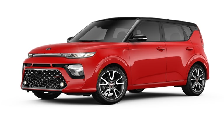 2020 Kia Soul Inferno Red and Cherry Black Exterior Color Option