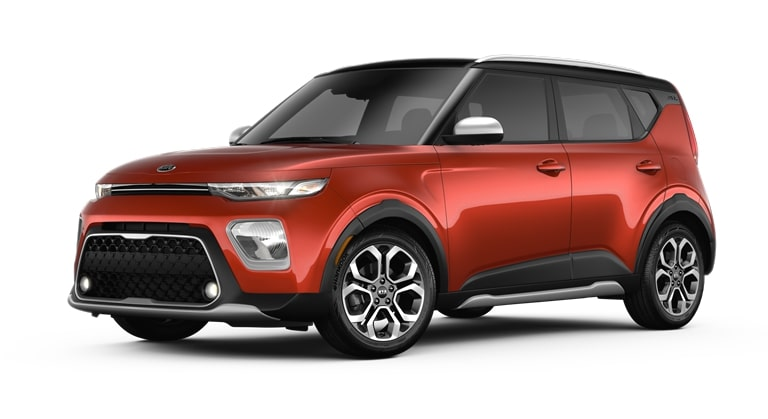 2020 Kia Soul Mars Orange and Cherry Black Exterior Color Option