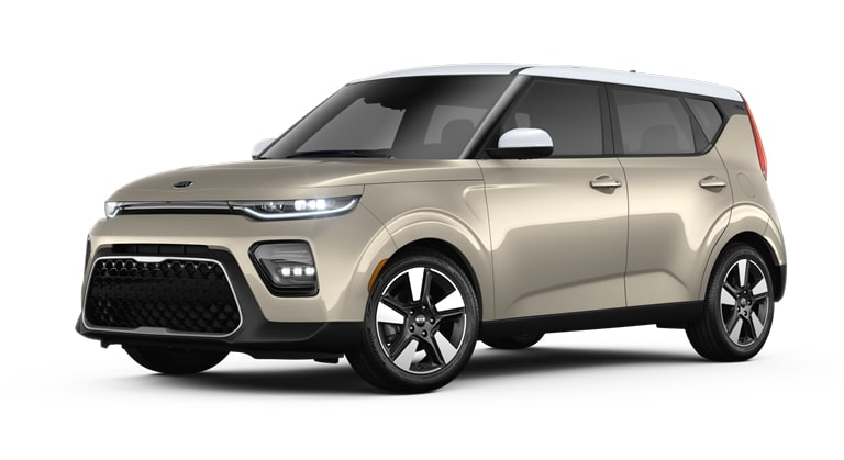 2020 Kia Soul Platinum Gold and Clear White Exterior Color Option