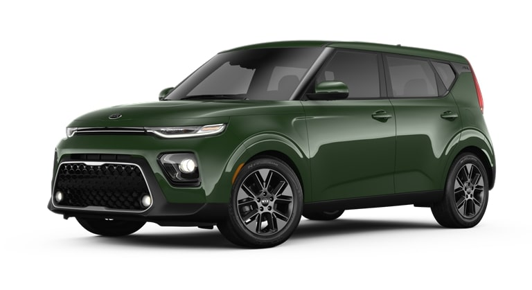 2020 Kia Soul Undercover Green Exterior Color Option