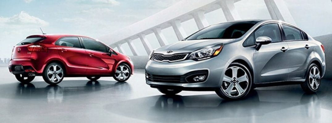 Exterior view of two Certified Pre-Owned Kia Vehicles