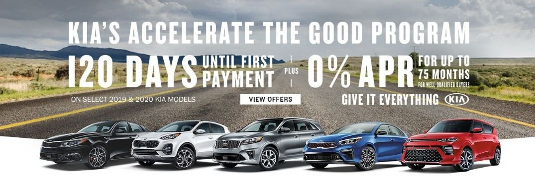 Kia's Accelerate the Good program details banner
