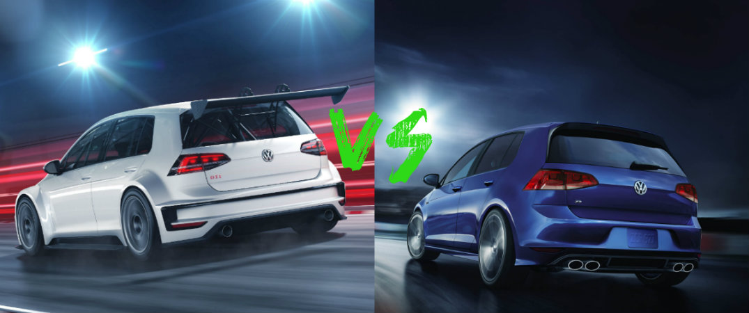 VW Golf GTI TCR vs VW Golf R
