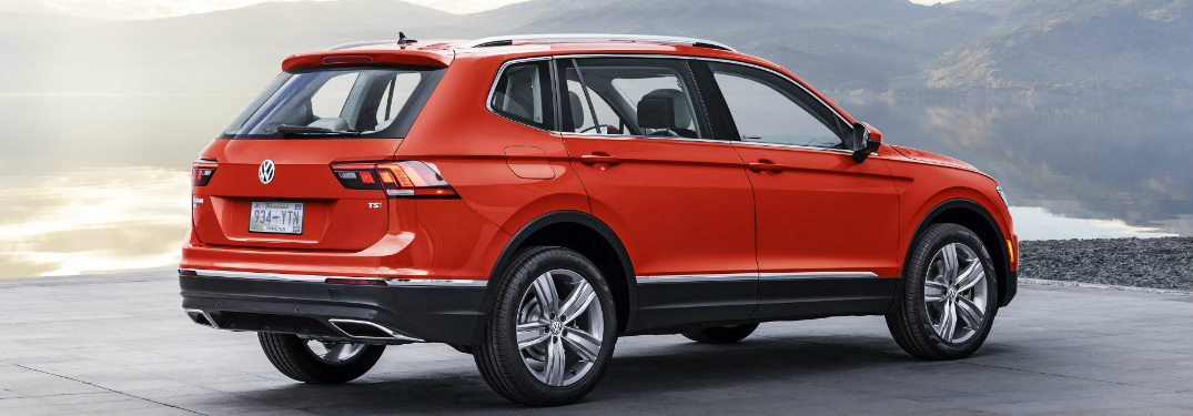 2018 VW Tiguan exterior in red