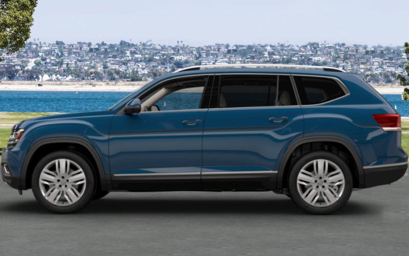 2018 Volkswagen Atlas In Tourmaline Blue Metallico Schworer