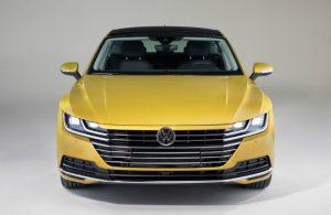 2019 Volkswagen Arteon front fascia in yellow