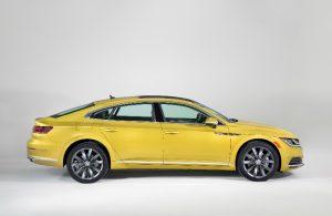 2019 Volkswagen Arteon in yellow side profile