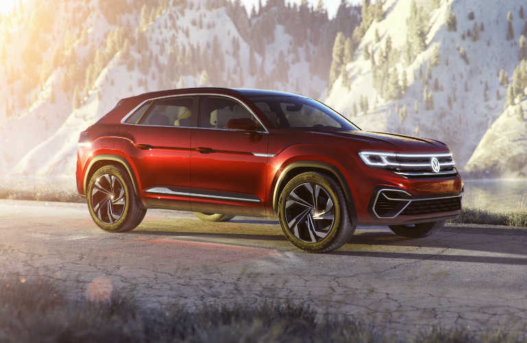 VW Atlas Cross Sport concept model side priofile