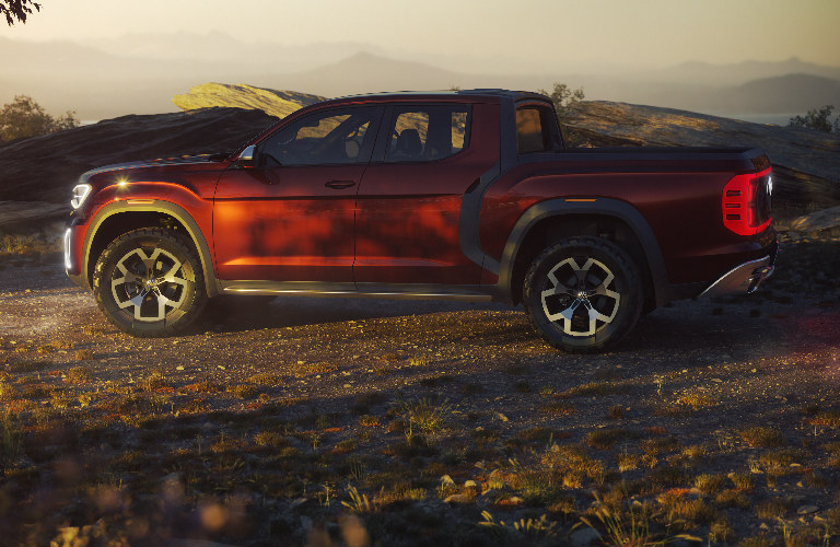 VW Atlas Tanoak pickup exterior side profile
