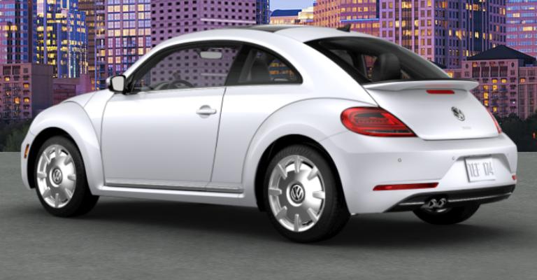 2018 Volkswagen Beetle In White Silver Metallic