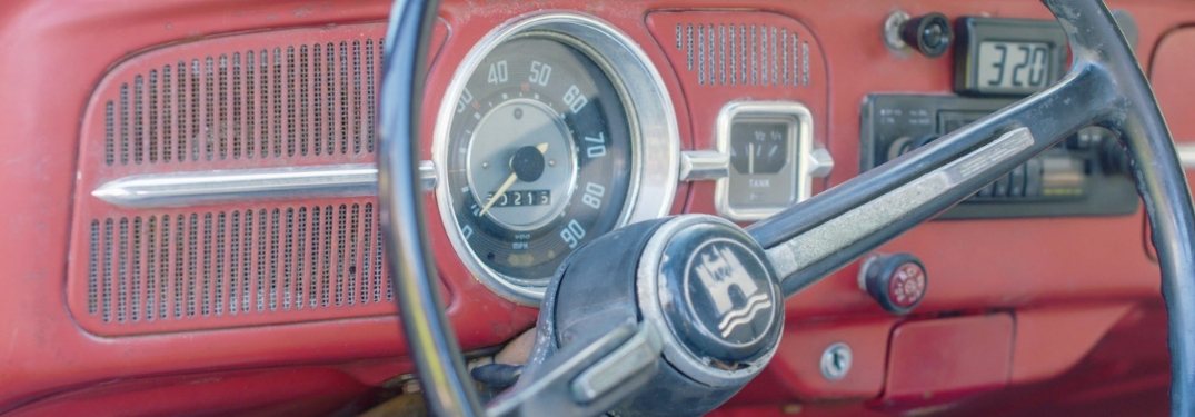 dashboard of annie the vw beetle