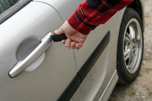 Manually unlocking car door with keys