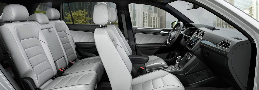 Leather seats in a 2020 VW Tiguan