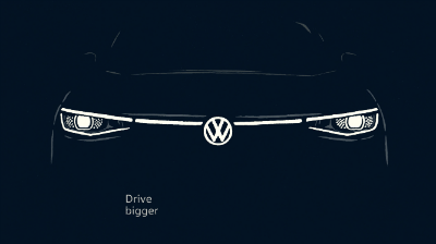 sneak peek of new vw drive bigger brand and logo