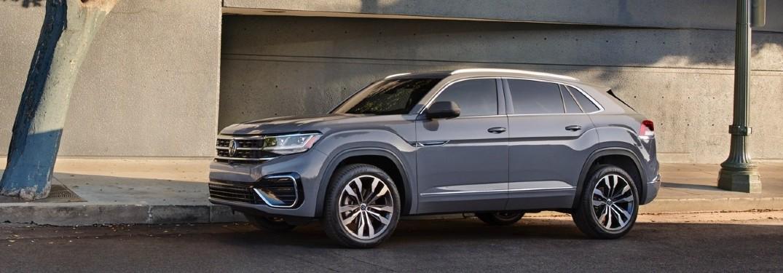 2020 VW Atlas Cross Sport grey exterior driver side parked on side of street