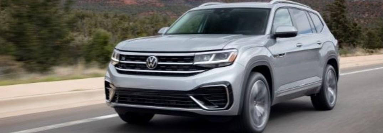 2021 Volkswagen Atlas Cross Sport driving down road