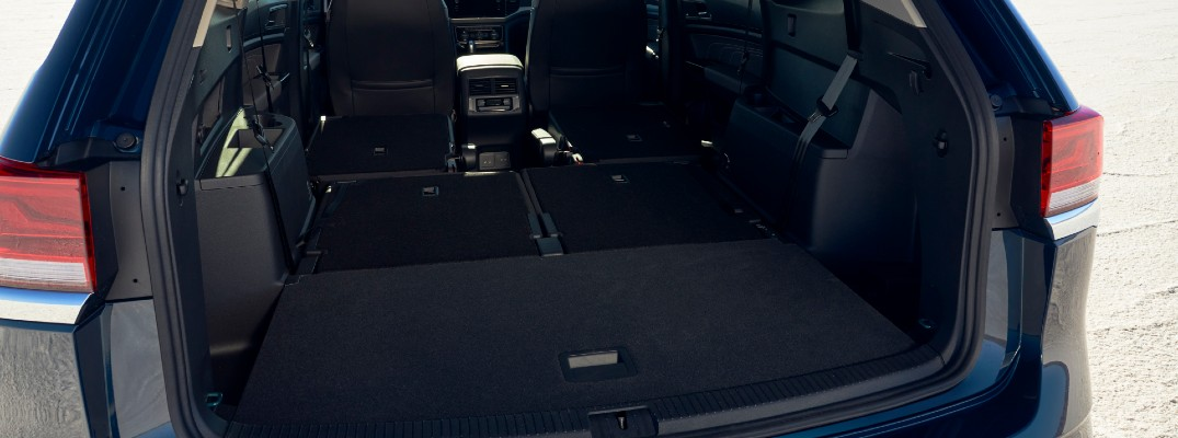 A photo of the cargo area in the 2021 Volkswagen Atlas.