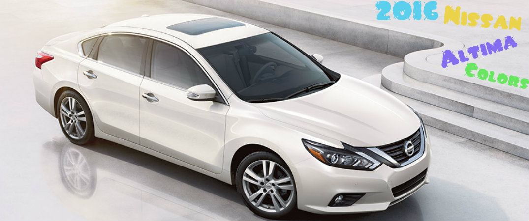 2016 nissan altima color choices