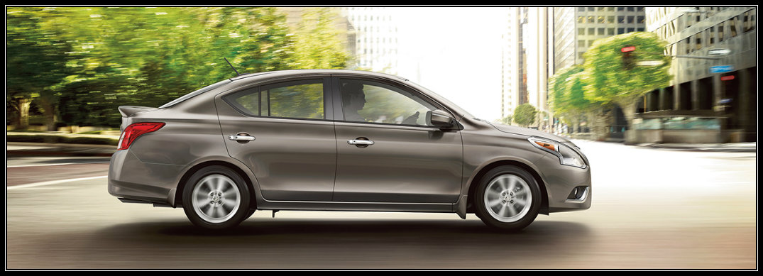 side view of the 2016 nissan versa sedan