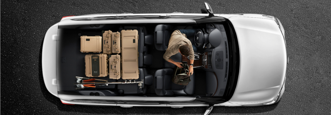 2018 Nissan Armada Seat and cargo map