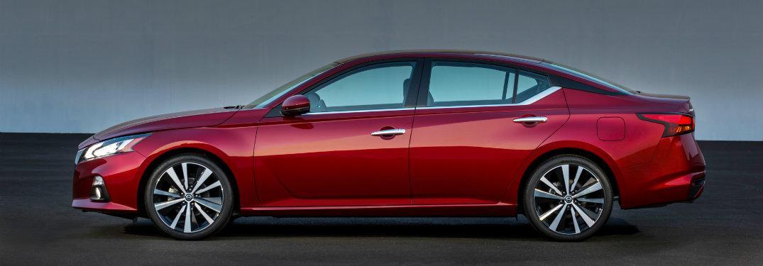 2019 Nissan ALtima in red side view