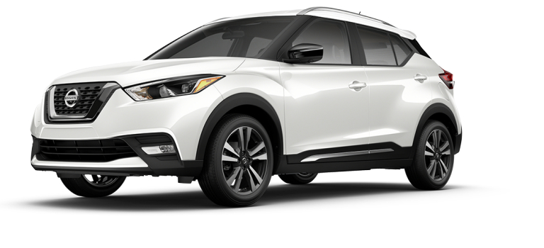 2018 Nissan Kicks Aspen White side view