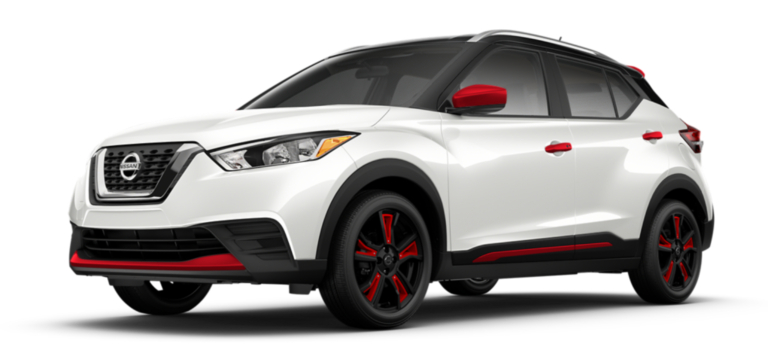 2018-Nissan-Kicks-white-with-red-accents-side-view_o ...