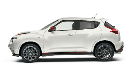 side view of white 2017 nissan juke