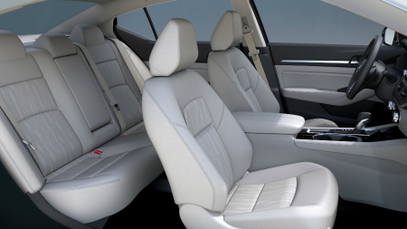 interior seating of 2019 nissan altima including front and rear seats
