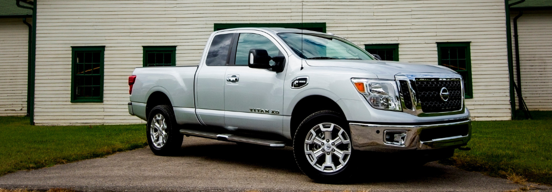 front and silver 2019 nissan titan xd
