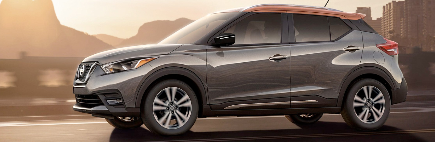 2019 Nissan Kicks on road by sunrise