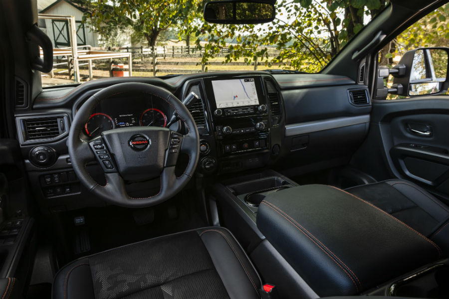A photo of the interior of the 2020 Nissan Titan XD coming soon.