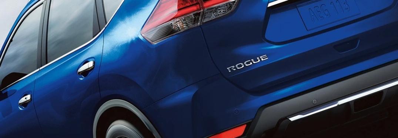 2020 Nissan Rogue back end badging