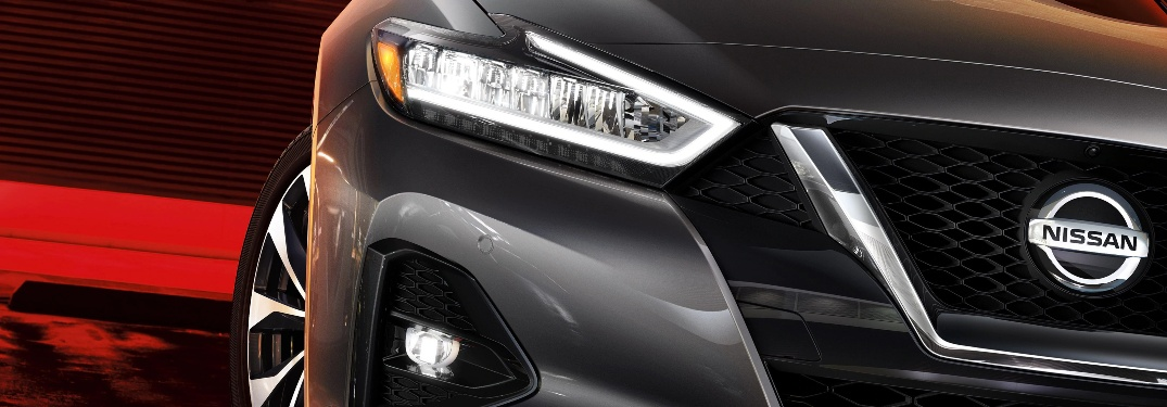 2020 Nissan Maxima close up of front grille