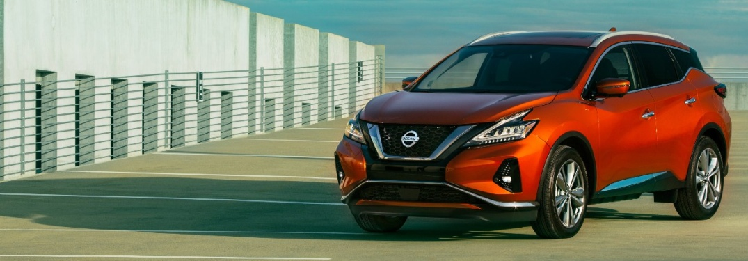 2020 Nissan Murano parked on top of what looks like a parking ramp