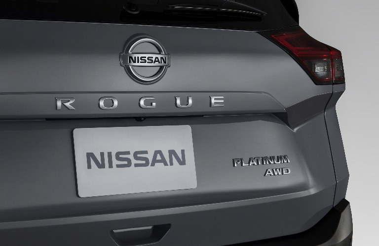 Close up of the back end of the 2021 Nissan Rogue