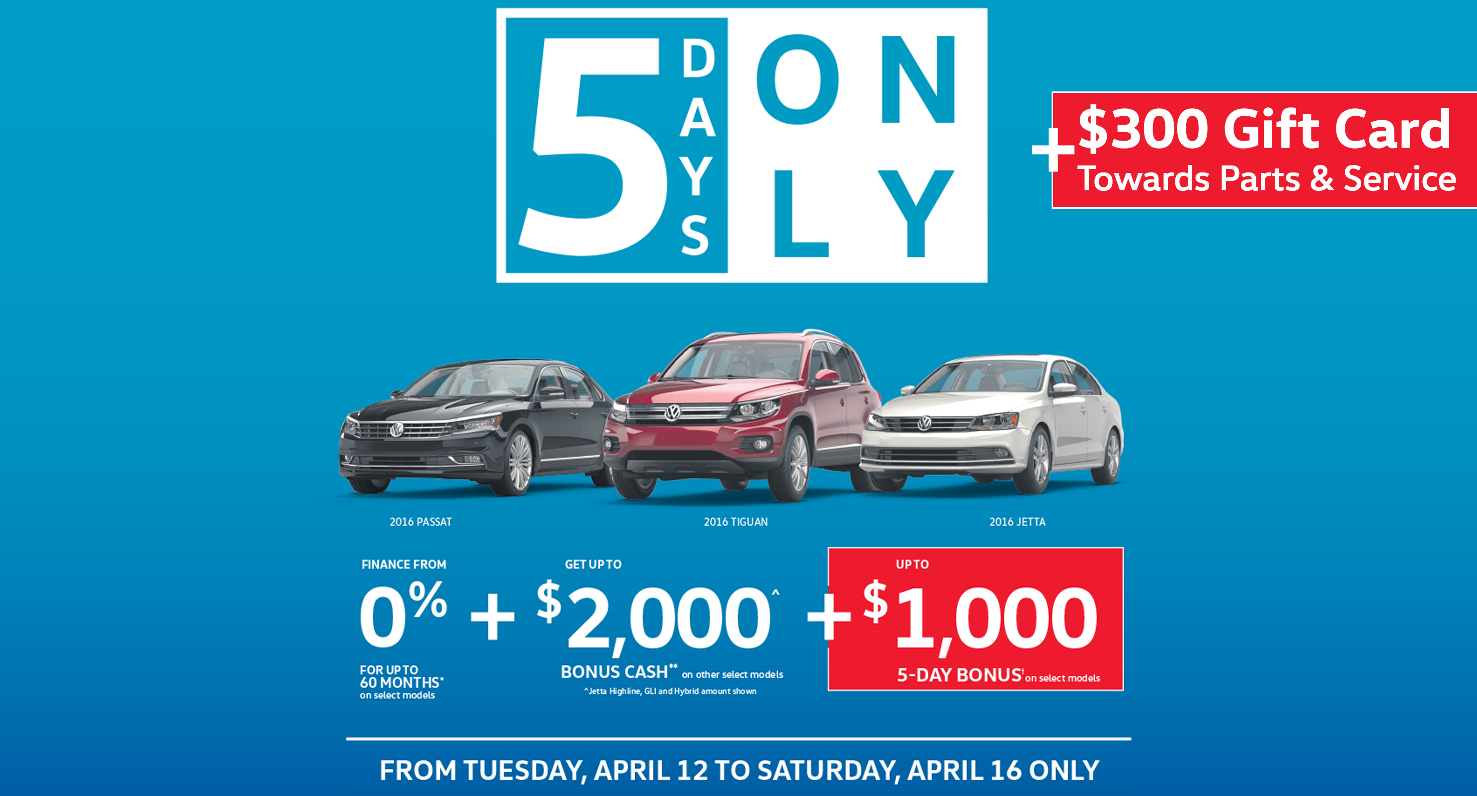 5 Days VW Sale Event in Vancouver