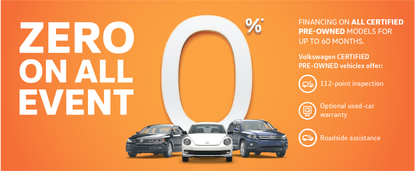 Zero On All VW CPO Sale Event