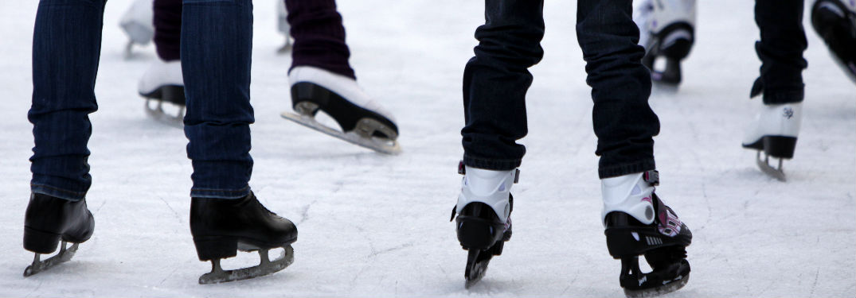 Folks ice skating