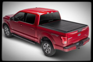Ford pickup truck outfitted with a tonneau cover
