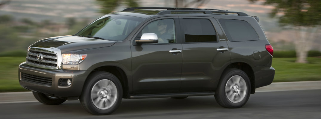 Front/side profile of a Toyota Sequoia SUV