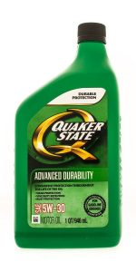 Image of a bottle of Quaker State Motor Oil