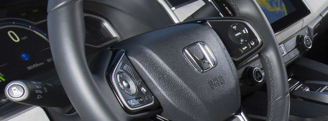 Steering wheel in a Honda vehicle