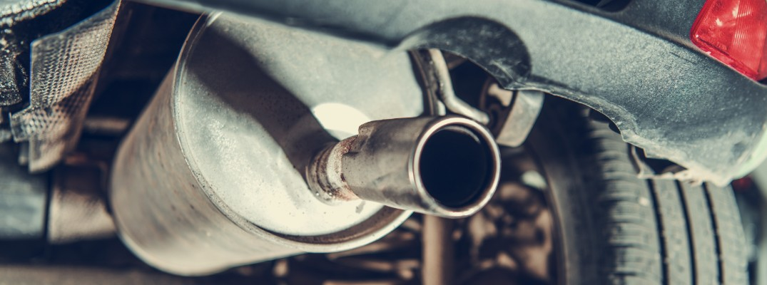 Isolated view of vehicle tailpipe